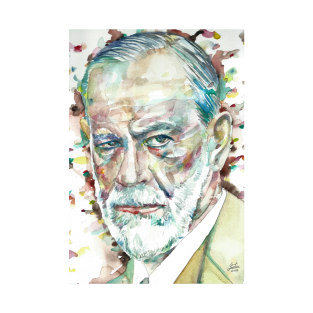 SIGMUND FREUD - watercolor portrait.1 t-shirts