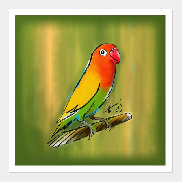 Fischer Lovebird - Lovebirds - Wall Art   TeePublic