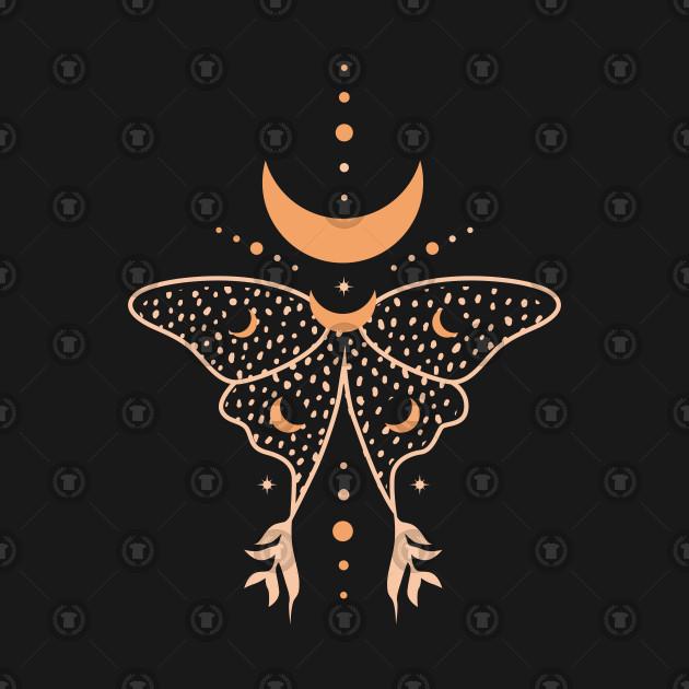 butterfly moon symbol stars night gift
