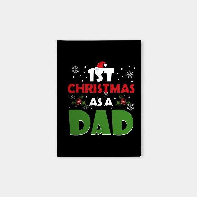 Dad Christmas Gifts.1st Christmas As A Dad T Shirt Xmas Gift For New Daddy