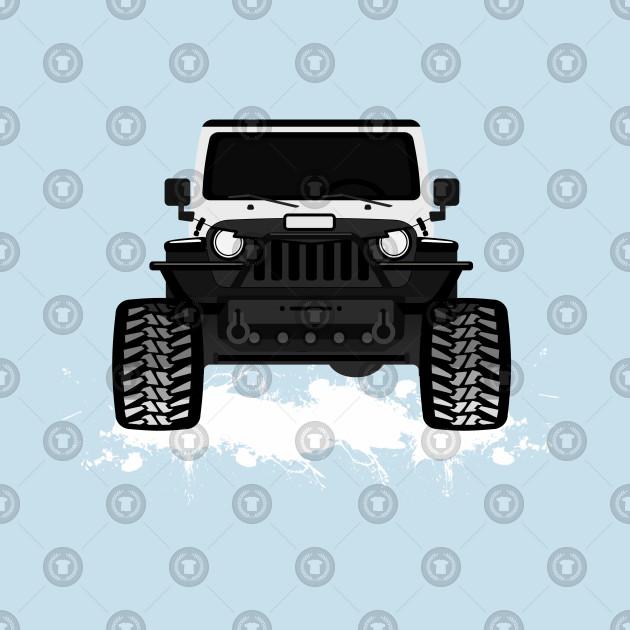 White Jeep Black Tj Grille Jeep Wrangler Pillow Teepublic