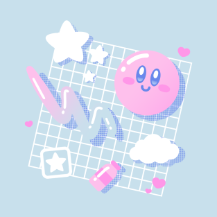 Pink Puff Aesthetic t-shirts