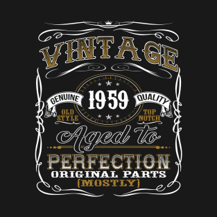Vintage 1959 Shirt 60th Birthday Gift Sixtieth Bday T