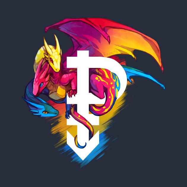 Pansexual pride dragon