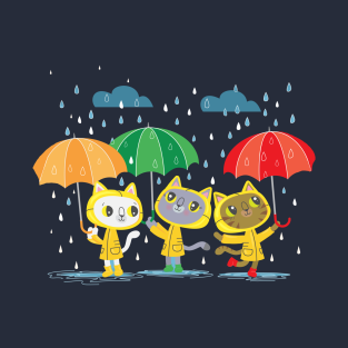 Rainy Day Kitty Cats t-shirts