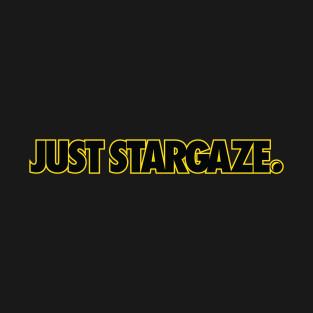 Just Stargaze Yellow Outline available through Teepublic.com