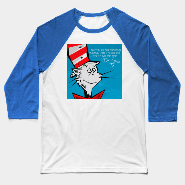 Dr Suess Cat in A Hat Baseball T-Shirt