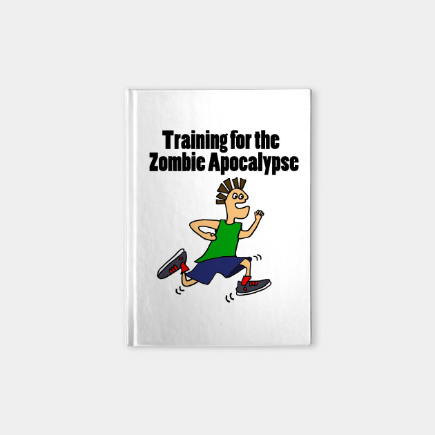 Funny Runner Dude Training for Zombie Apocalypse
