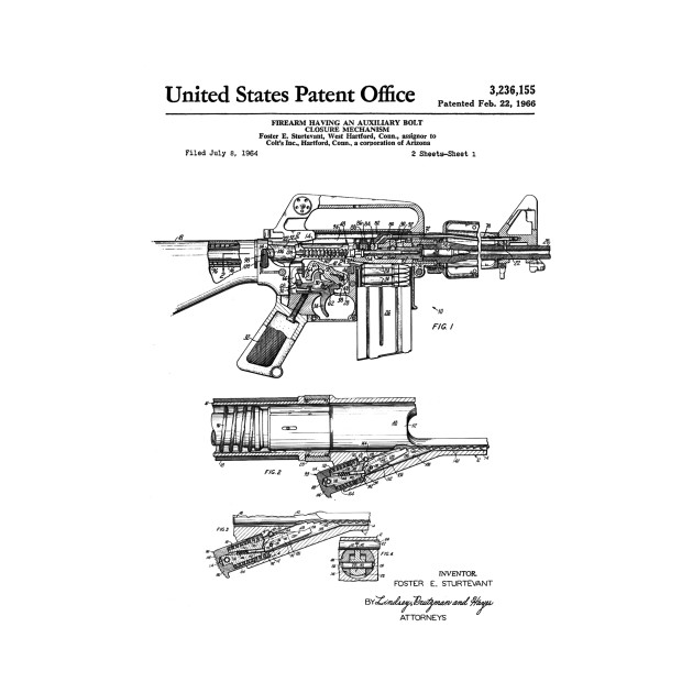 Colt Automatic Rifle Patent Black