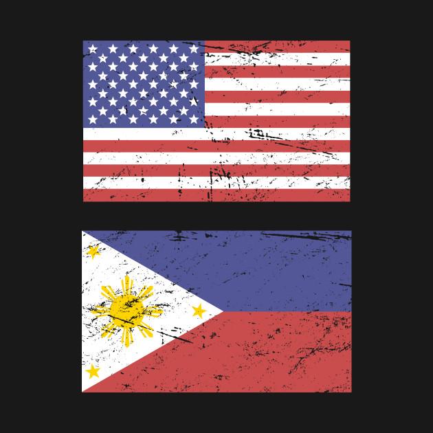 United States Flag & Philippines Flag