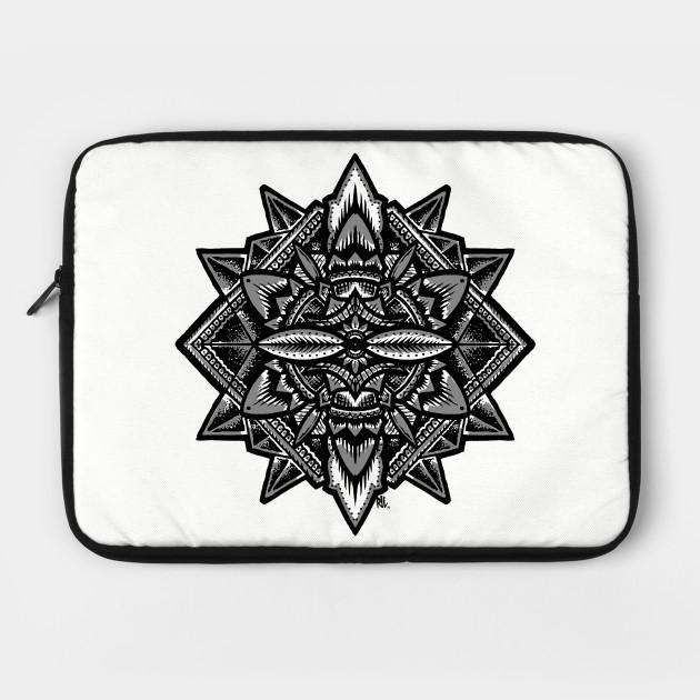 Sacred Geometry Flower Of Life Mandala Merkaba Laptop Case