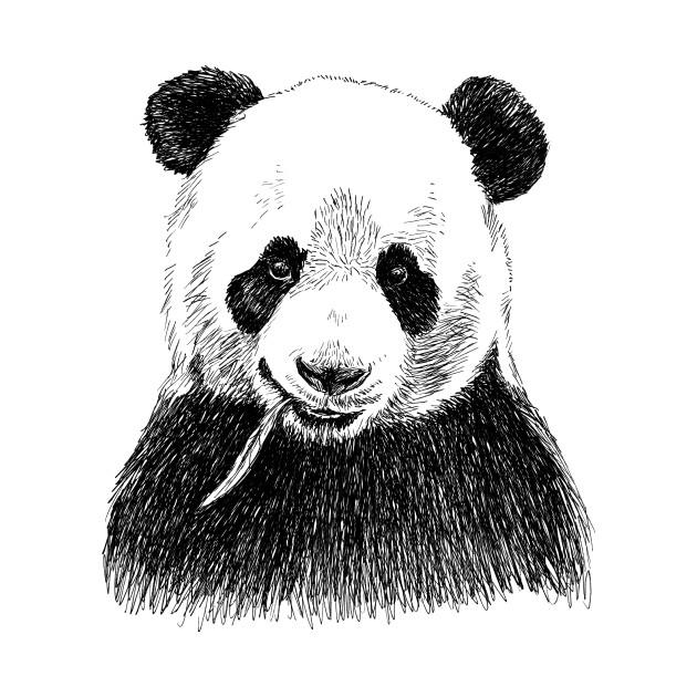Panda Head Print