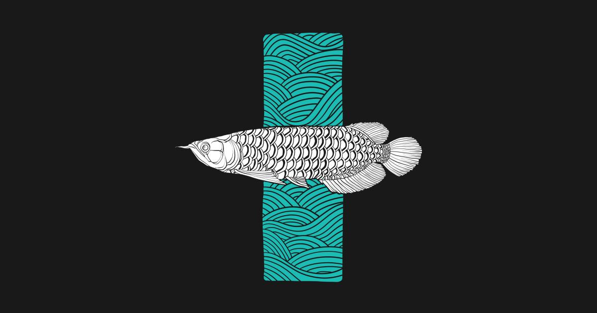 Arowana - Illustration - T-Shirt | TeePublic