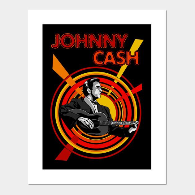Johnny Cash - Johnny Cash - Posters and Art Prints | TeePublic UK