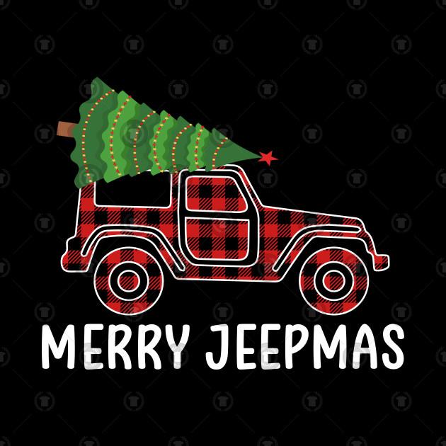 Christmas Jeep.Buffalo Plaid Merry Jeepmas Christmas Jeep