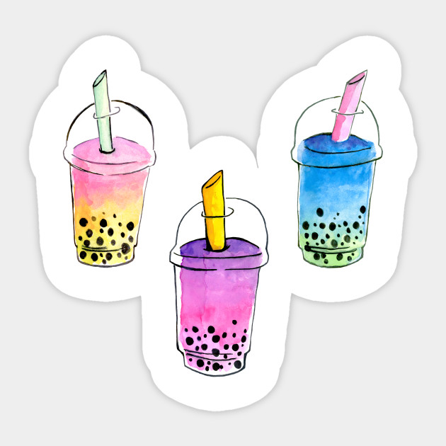 It's just a photo of Comprehensive Boba Tea Drawing