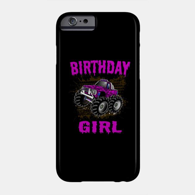 Monster Truck Birthday Girl Gift Kids Pink Purple Monster Trucks Phone Case Teepublic