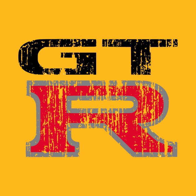 gtr distressed logo nissan gtr t shirt teepublic