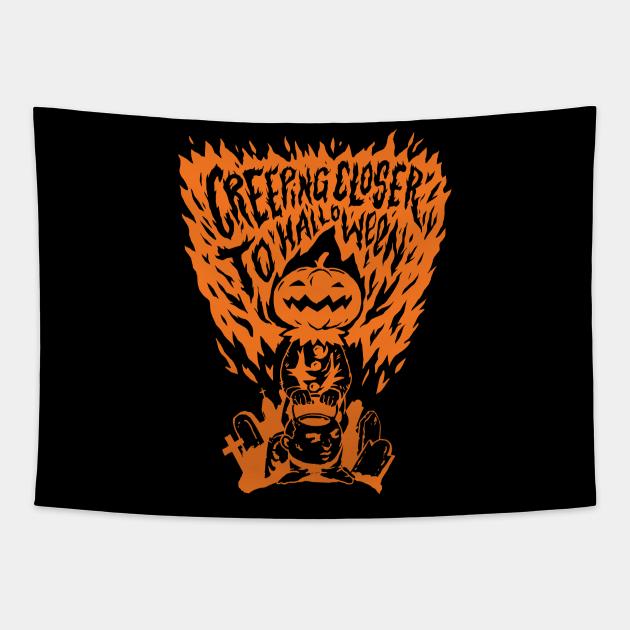 Creeping Closer to Halloween // Scary Pumpkin Head
