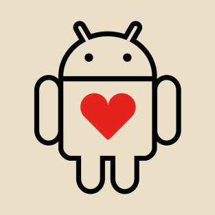 Droid with Heart t-shirts
