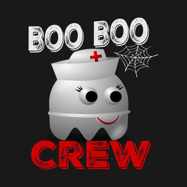 Boo Boo Crew Nurse Ghost T-Shirt Halloween Costume Gift T-Shirt