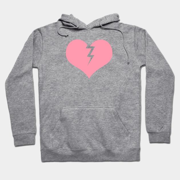 retail prices available online retailer Lightning Heart in Pink - Pink Heart - Hoodie | TeePublic UK