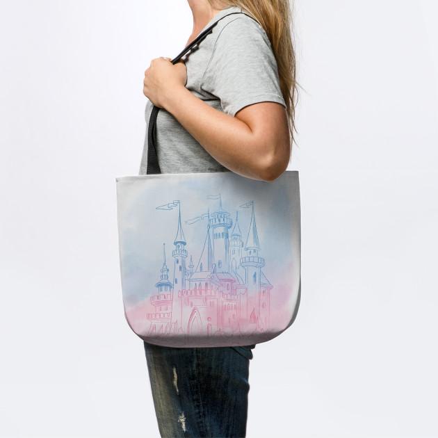 Watercolor castle art, Disney Princess castle, Disney world, Disneyland castl, watercolor art