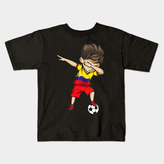 a954fa5ea74 Dabbing Soccer Boy Colombia Jersey Shirt Colombian Football Kids T-Shirt
