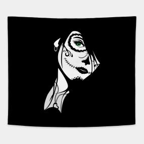 Sugar Skull Wallpaper Tapestries