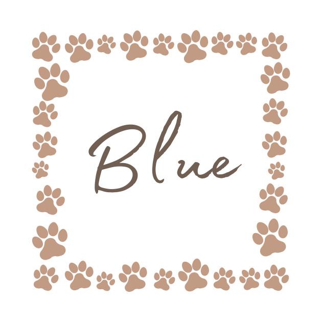 Pet name tag - Blue
