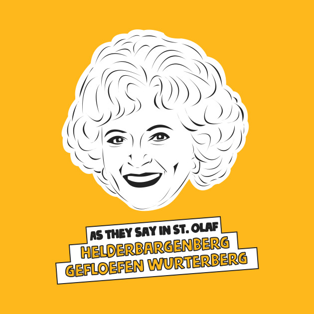 The Golden Girls - Rose Nylund - Betty white - St. Olaf ...