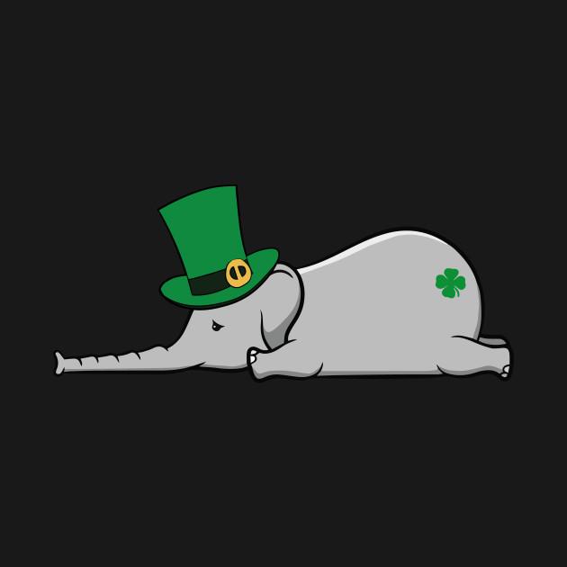 Funny St Patricks Day Irish Drunk Elephant Gift