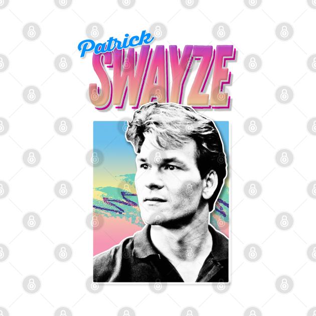 Patrick Swayze -  90s Styled Retro Graphic Design