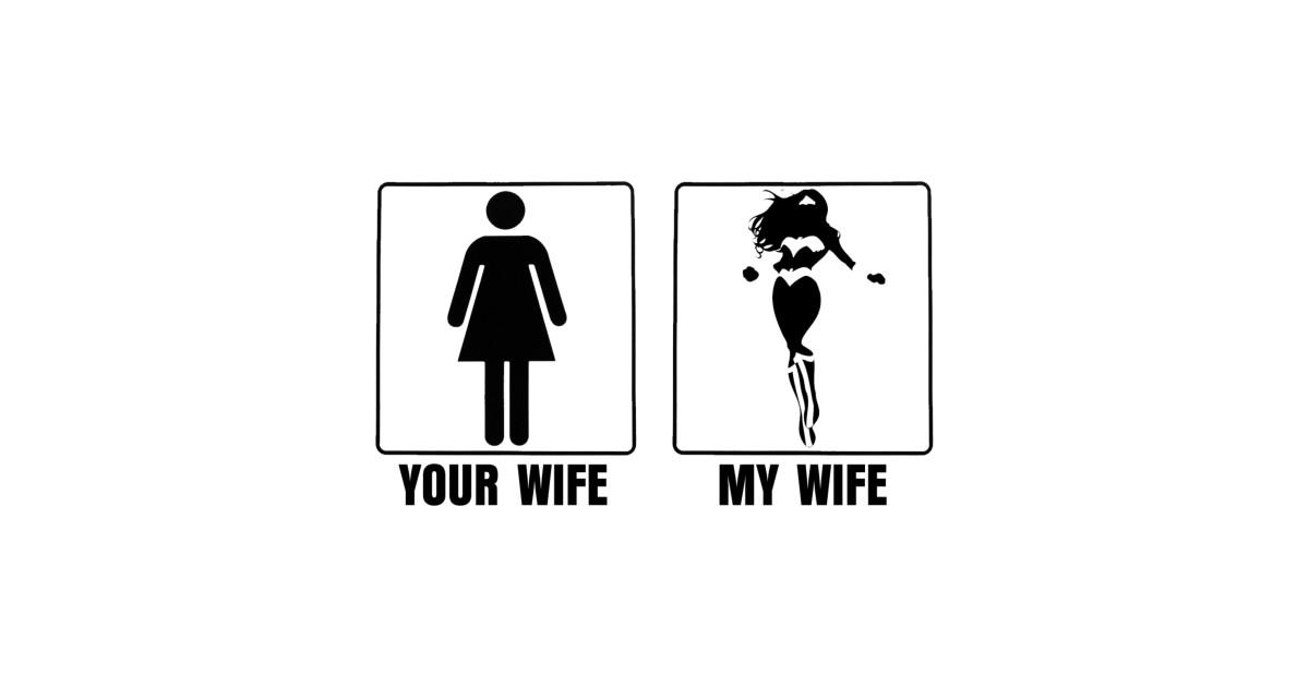 yourwifemywife-black - wonder woman
