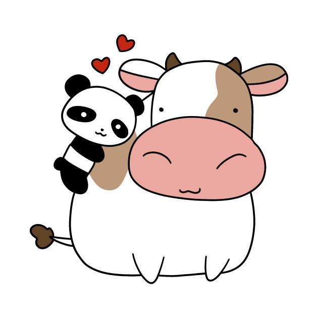 Panda Loves Cow