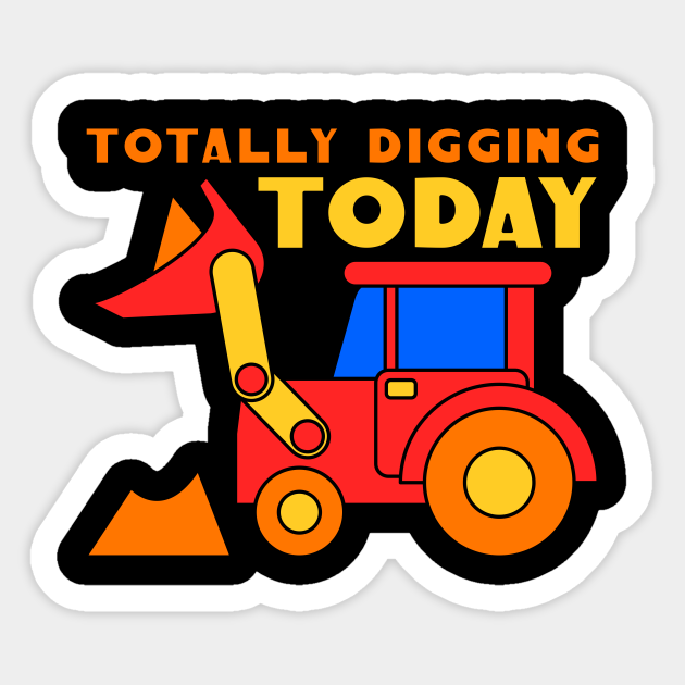 Kids Farm Tractor Farmyard Tractors Funny Digging Digger Vehicle Gift -  Kids Farm Tractor Farmyard Digger - Sticker | TeePublic