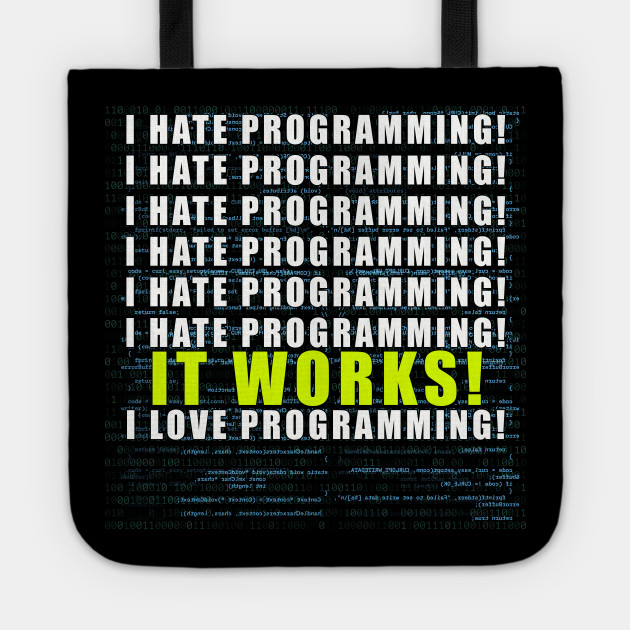 7a423532c Funny Programmer Joke - I hate Programming T-Shirt - Funny ...