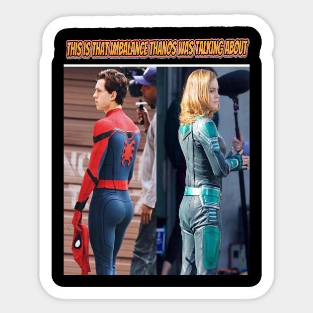 Spiderman Captain Marvel Thanos Imbalance Tom Holland Sexy Butt