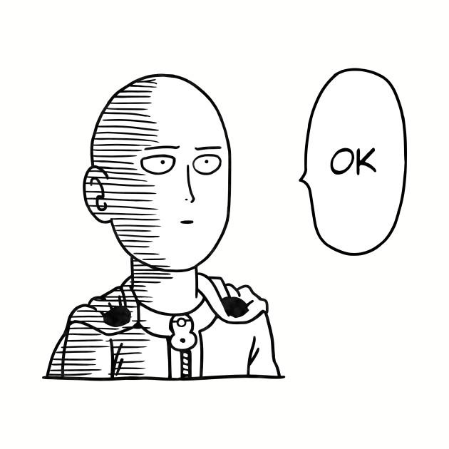 (OPM) Saitama OK - B&W +Text