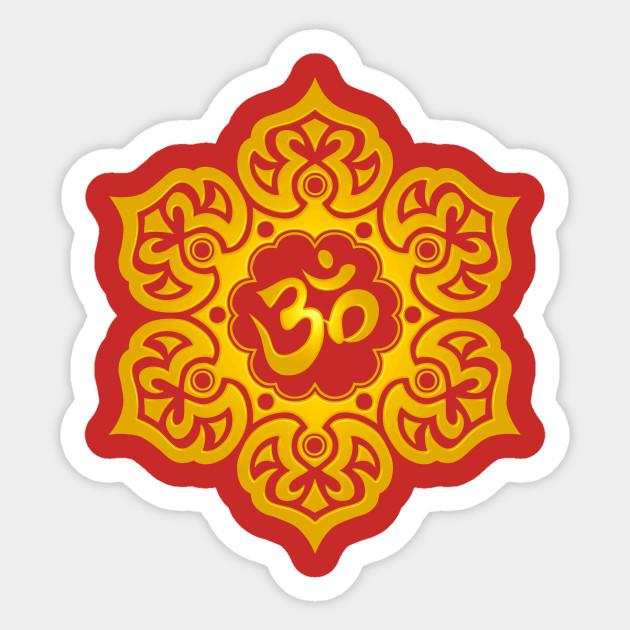 Yellow lotus flower yoga om lotus flower sticker teepublic 763191 1 mightylinksfo