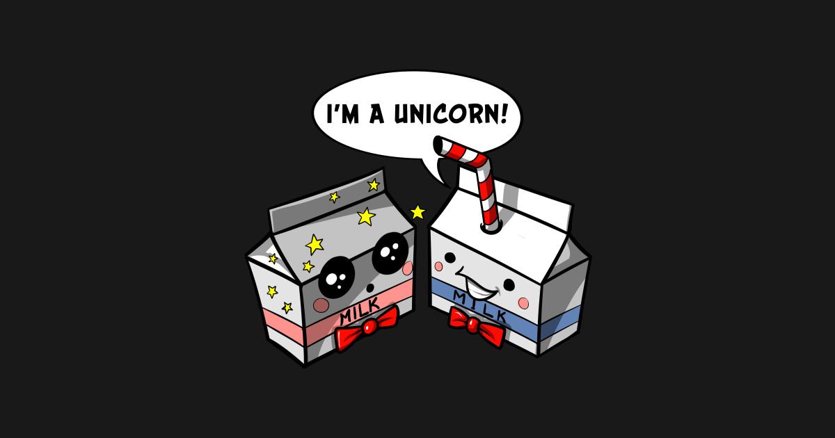 133b27e6 Milk Carton Unicorn Straw Funny Cute Kawaii Cartoon - Unicorn Straw Funny  Cartoon - Mug | TeePublic