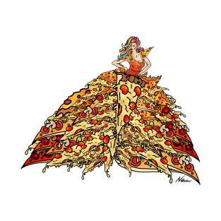 Pizza Peacock Mermaid Dress