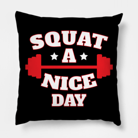 Funny Gym Quotes Pillows | TeePublic