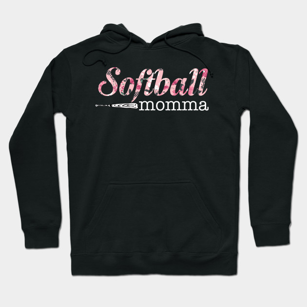 Softball Momma Floral Design Women tShirt For Mom Hoodie