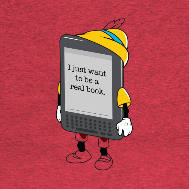 I want to be a real book