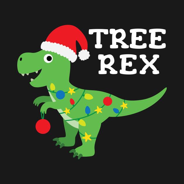 Dinosaur Christmas.Cute Tree Rex Christmas T Rex Dinosaur