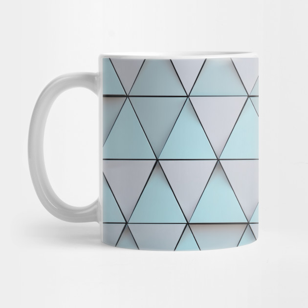 Teal Blue Geometric Pattern - Geometrical - Mug | TeePublic