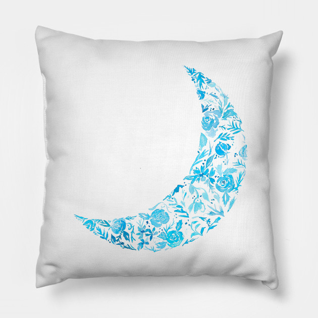 blue floral moon