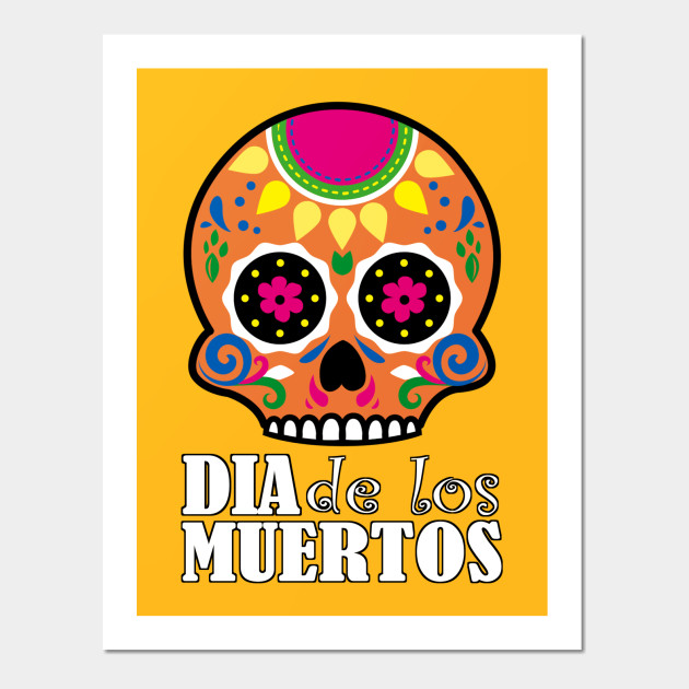 Dia de los Muertos - Orange Skull - Christian Design - Wall Art ...