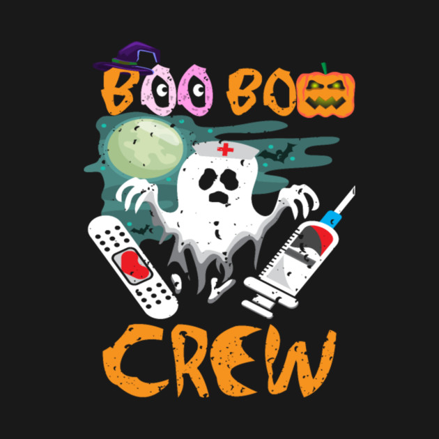 Boo Boo Crew Nurse Funny Halloween Costume Scary Ghost Gift